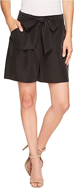 Self Belt Patch Pocket Shorts