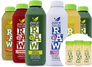 3-Day Juice Cleanse with Coconut Fusion + Shots by Juice From the RAW - Most Popular Cleanse to Lose Weight Quickly / Deto...