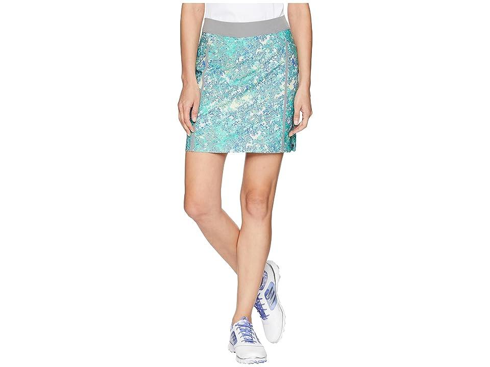 adidas Golf Ultimate Adistar Printed Skort (Hi-Res Blue) Women