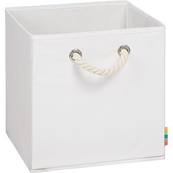 Storanda Aufbewahrungsbox Leo Faltbox Korb 30x30x30 Cm Weiss Amazon De Kuche Haushalt