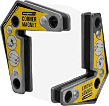 أدوات يدوية قوية - VAL-MST327، مربعات زاوية مغناطيسية، (عبوة مزدوجة) 12 درجة، 90 درجة، 60 درجة، قوة سحب قصوى: 13.6 كجم، مل...
