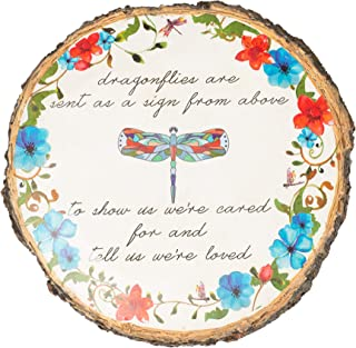 Dragonflies Sent From Above Bright Florals 12 x 12 Resin Outdoor Garden Stone
