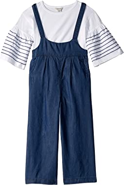 Raquel Overall Bell Sleeve Set (Toddler/LIttle Kids)