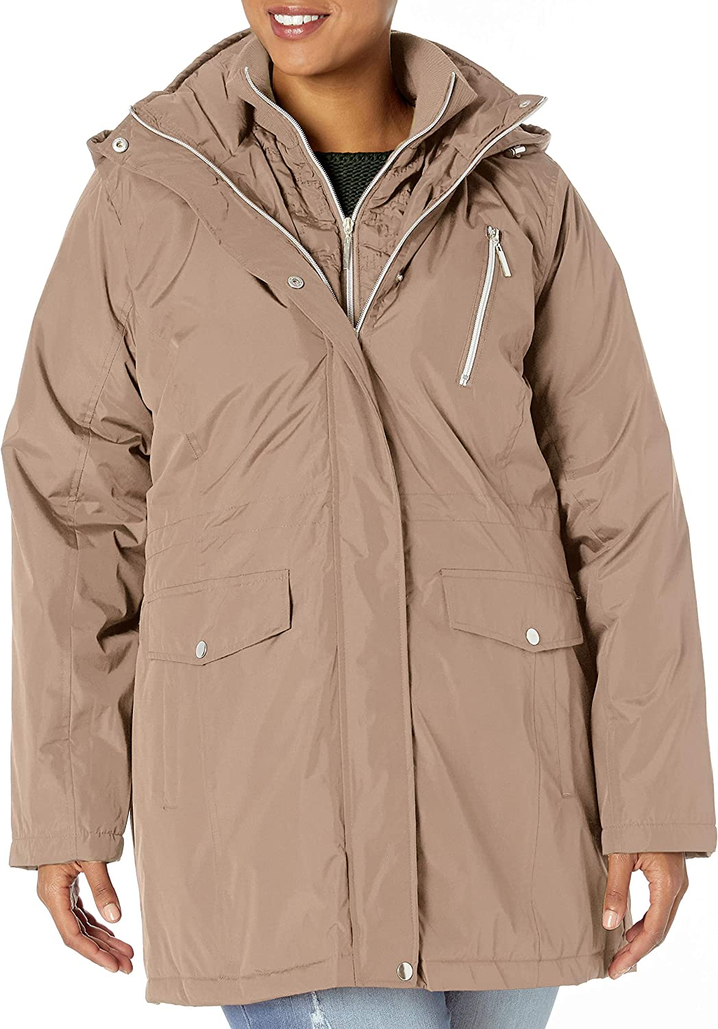 Big Chill Women's Anorak Jacket with Quilted Vestee
