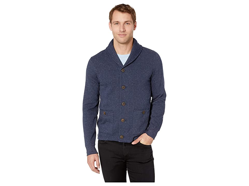 Lucky Brand Shawl Cardigan Sweatshirt (Navy) Men