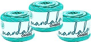 (3 Pack) Lion Brand Yarn Mandala Ombre Yarn, Zen