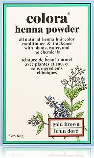 Colora - Henna Powder Natural Organic Hair Colour Brown - 60ml