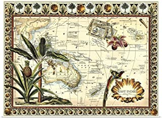 GREATBIGCANVAS Poster Print Tropical Map of East Indies by Vision Studio 40
