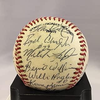 Rare 1988 Bernie Williams Pre Rookie New York Yankees Team Signed Baseball - JSA Certified - Baseball Slabbed Autographed Rookie Cards