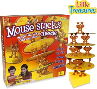 Little Treasures Mouse Stacks Cheese Tower Game, Too Many mice! A Fun Balancing Tumble Game 2 - 4 Players