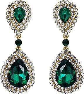 Women's Fashion Wedding Bridal Crystal Teardrop Infinity Dangle Earrings
