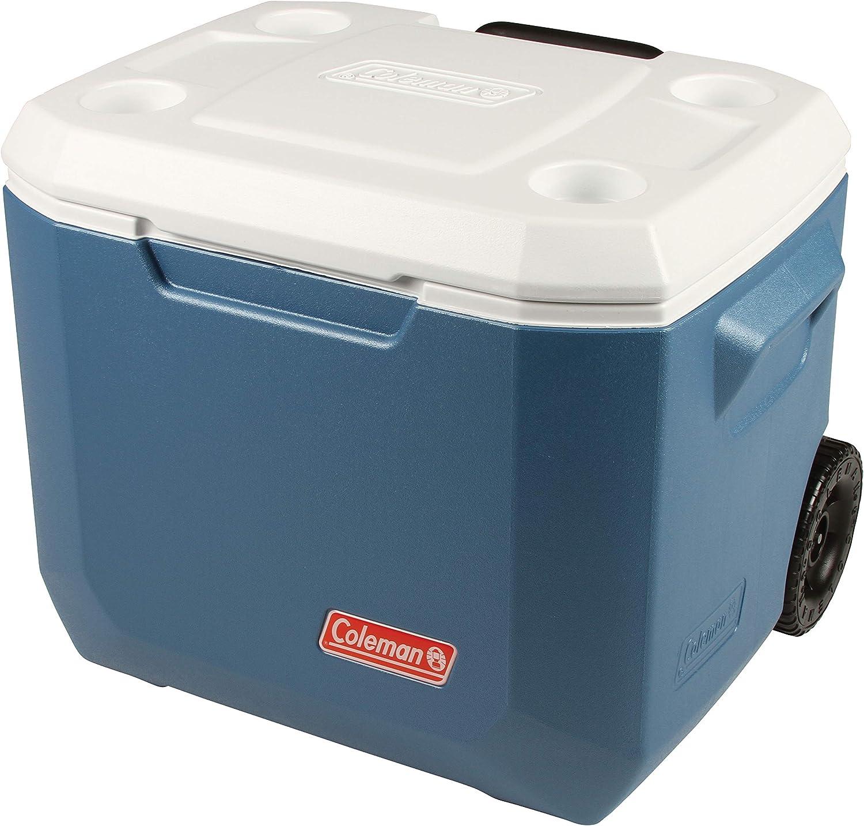 Coleman Xtreme Wheeled Cooler 50QT Nevera pasiva con Ruedas, Nevera de Capacidad 47 L, Aislamiento Integral PU, Refrigeración Durante al mínimo 4 días