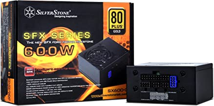 SilverStone Technology 600W SFX Form Factor 80 PLUS GOLD Full Modular Power Supply with +12V single rail, Active PFC (SX60...