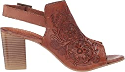 Tan Floral Toolded Leather