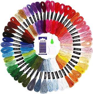 SOLEDI Stickgarn Embroidery Floss Multifarben Weicher Polyester Perfekt für Bracelets Stickerei Basteln Crafts Set Basteln Leisure Arts Kreuzstich, 8m, 6-fädig, Threads Nähgarne Häkeln 50 Farben