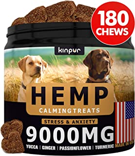 Hemp Dog Chews and Calming Treats for Stress, Dog Anxiety Relief - Natural Calming Aid - Stress - Fireworks - Storms - Aggressive Behavior, Hip and Joint Supplement, Natural Anti-Inflammatory