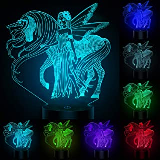 AIMASON 3D Night Lights for Kids, Illusion Lamp Smart Touch 7 Colors Changing Table Desk Bedroom Deco Optical Illusion Lamps As a Gift Ideas for Boys or Girls (Horse) (Unicorn) (Fairy)