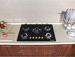 Ship from CA,US 30 Euro Design Black Tempered Glass Built-in Kitchen 5 Burners Gas Hob Cooktops