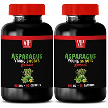 Memory and Brain Health - Asparagus Young Shoots Extract 600 MG - antioxidant Weight Loss - 2 Bottles 120 Capsules
