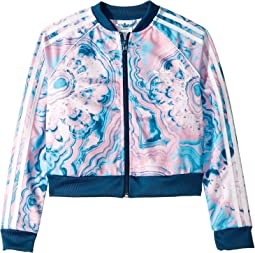 Marble Crop Track Jacket (Little Kids/Big Kids)