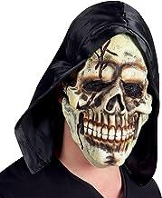 Boland 97512. Latex masker doodskop met capuchon e...