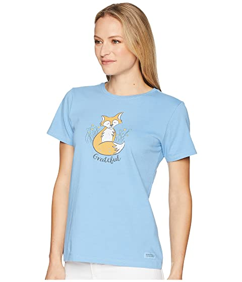 Life is Good Grateful Fox Crusher Tee Powder Blue Aberdeen Outlet Where Can You Find Inexpensive For Sale Outlet Really yEzXl9QINF