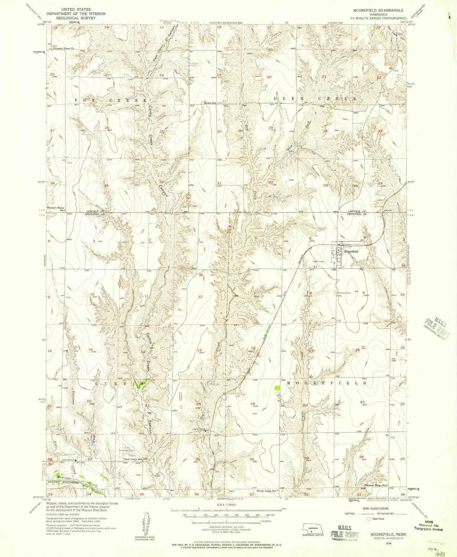 YellowMaps Moorefield NE topo map Minu 7.5 X 1:24000 Scale Mail order Max 83% OFF