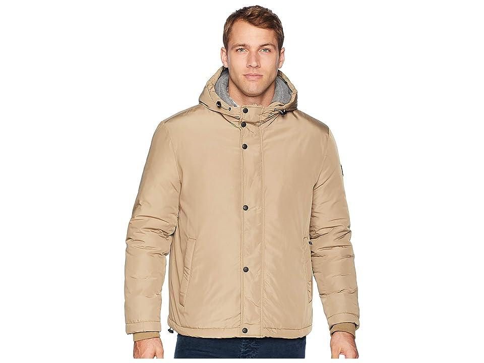 Cole Haan Oxford Rain Zip Front Jacket (Khaki) Men