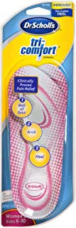 Dr. Scholl's Tri-Comfort Orthotics Inserts, Women's Size 6-10, 1-Pair Packages (Pack of 3)