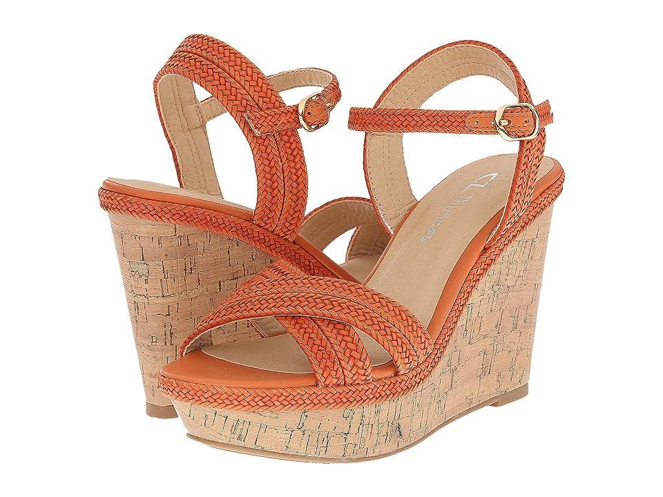 CL By Laundry Clara (Orange Braid) Women's Wedge Shoes
