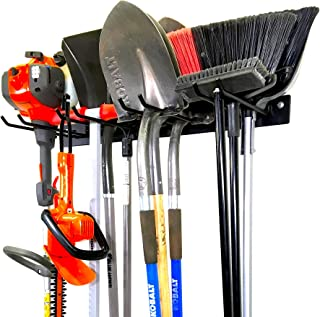 StoreBourard BLAT Tool Storage Rack ، گاراژ Wall Mount Organizer ، سنگین جامد فولاد حداکثر 200 پوند ، ابزار باغ ، بیل ، چنگک ، جارو ، سیم ، شیلنگ ، طناب و موارد دیگر