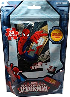 Marvel Spiderman Puzzle, 24 Piece in Resealable Bag for Easy Storage