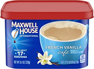 Maxwell House International Cafe French Vanilla Instant Coffee (8.4 oz Canisters, Pack of 4)