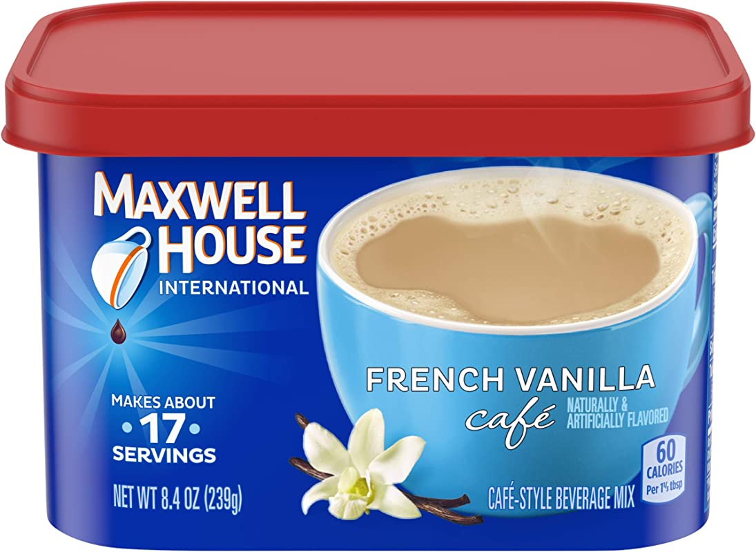 Maxwell House International Cafe French Vanilla Instant Coffee 8 4 Oz Canisters Pack Of 4