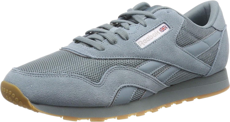 Reebok Men's Cl Nylon Mu Low-Top Sneakers, türkis (Seasonal-Teal Fog White Skull Grey 0), UK