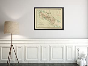 1903 Map Costa Rica Costa Rica : from Official and Other Sources Relief Shown by Shading and spot he Vintage Fine Art Reproduction Ready to Frame