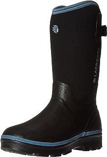 LaCrosse Women's Alpha Range Rain Boot, Black/Cerulean, 7 M US