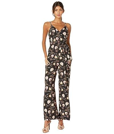 1.STATE Ditsy Petals Jumpsuit (Pink Blush/Black) Women