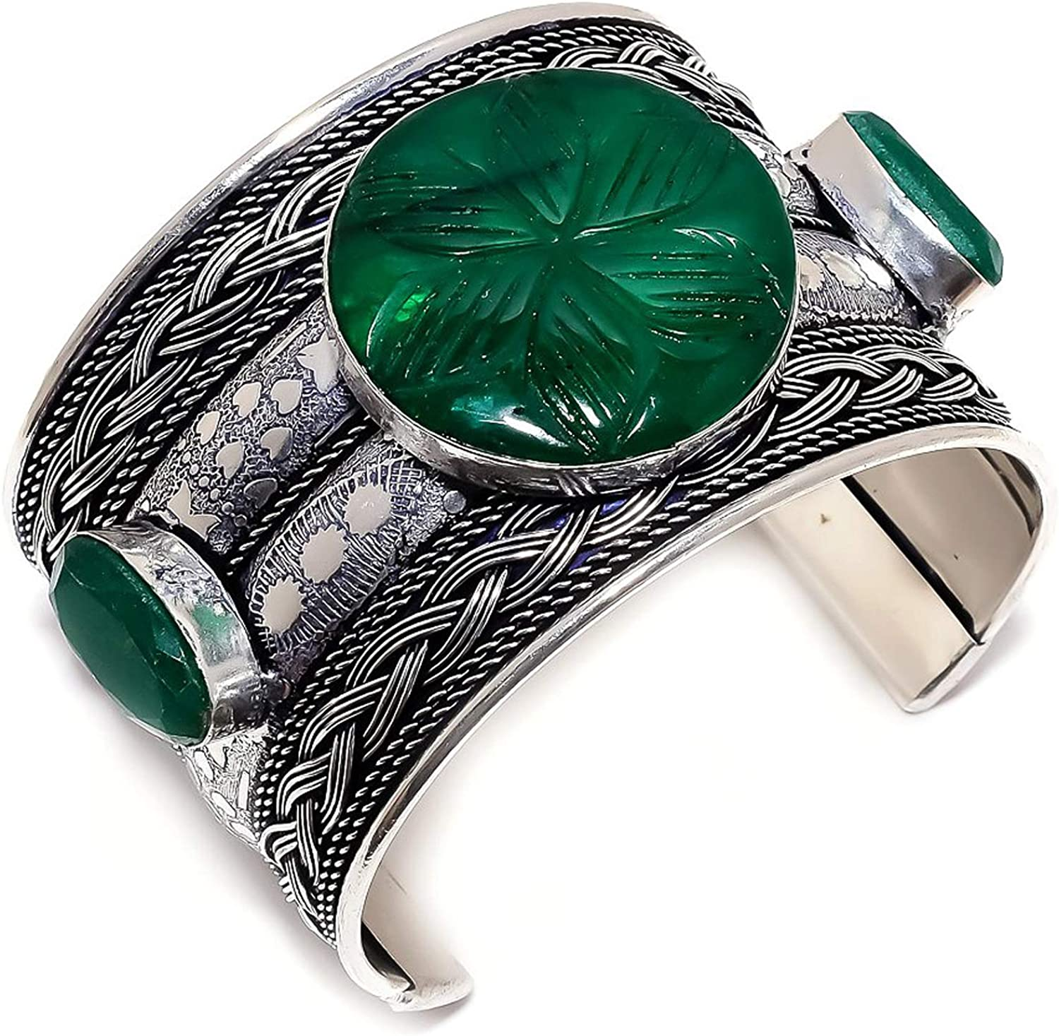 Opalgemstore Max 48% OFF Carved Zambian Mines Popular brand in the world Emerald Cu Silver Sterling 925