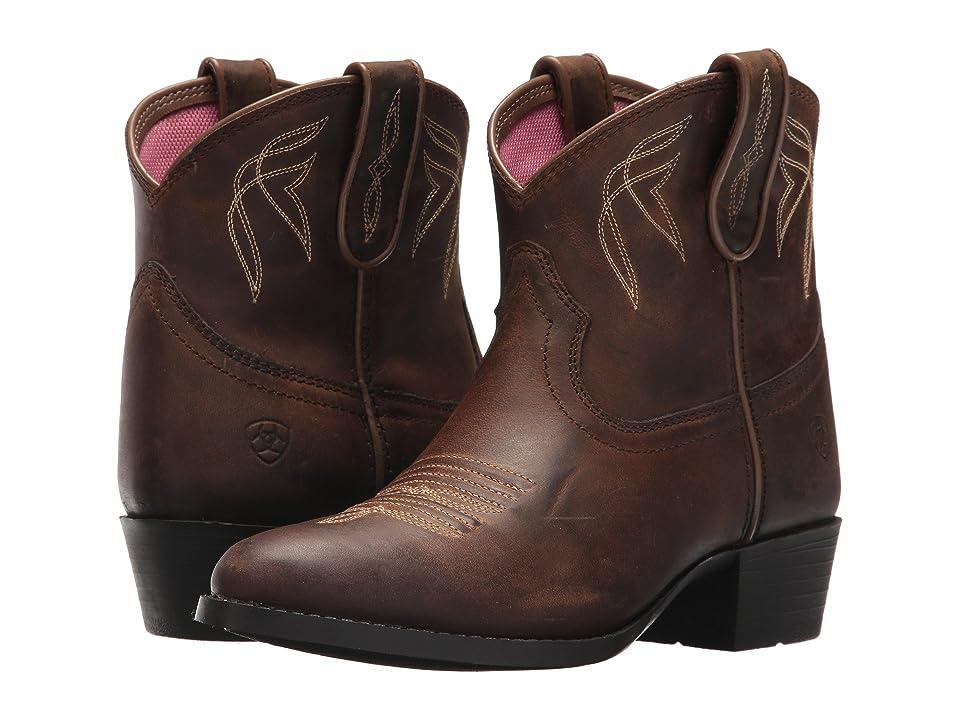 Ariat Kids Darlin (Toddler/Little Kid/Big Kid) (Distressed Brown) Cowboy Boots
