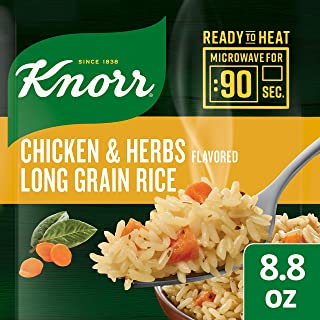 Knorr Ready to Heat Meal Maker for a quick and easy side Chicken and Herb Long Grain Rice ready in just 90 seconds 8.8 oz