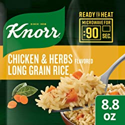 Knorr Ready to Heat Meal Maker for a quick and easy side Chicken and Herb Long Grain Rice ready in j