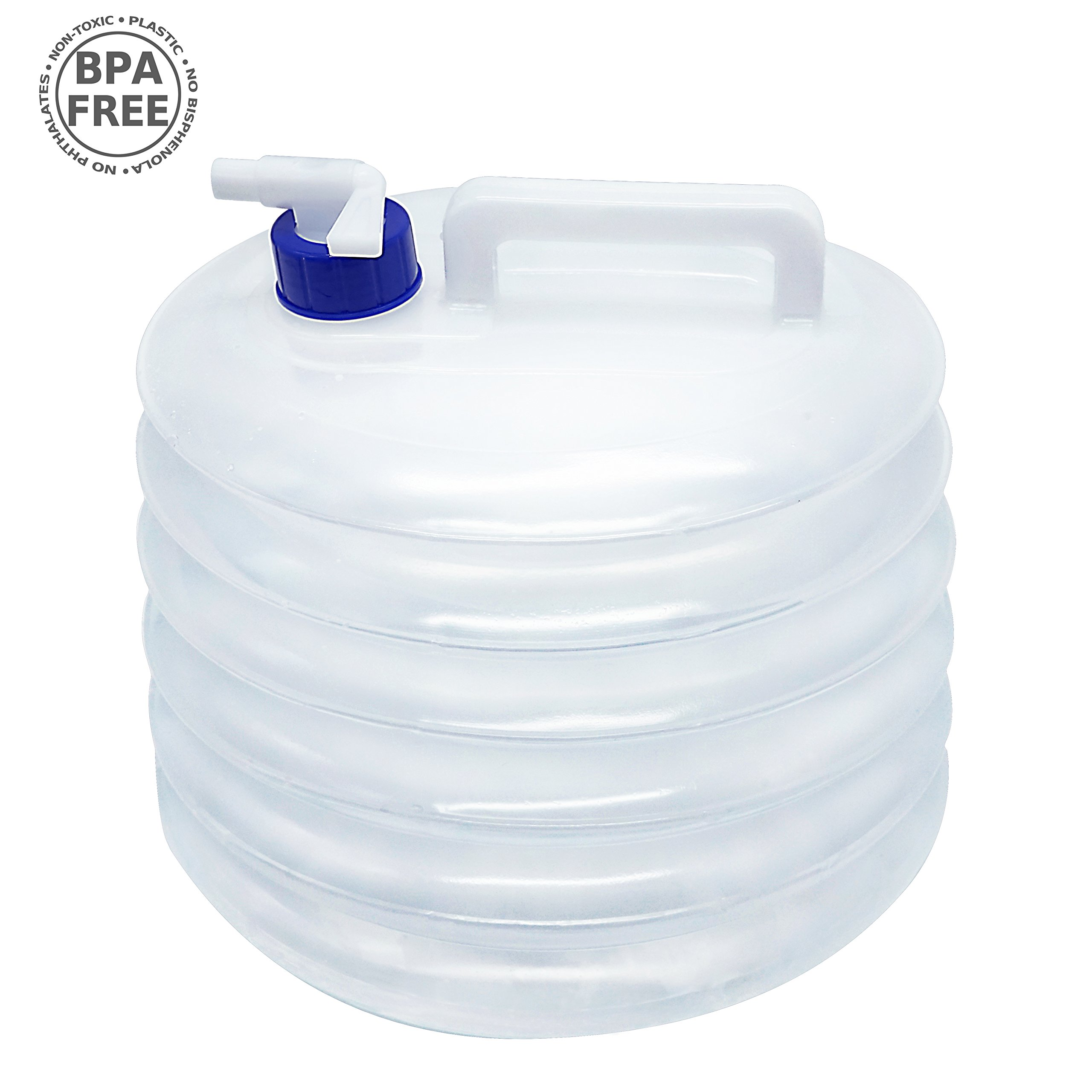5-15L Collapsible Folding Water Container Bucket Carrier Tap Storage Camping