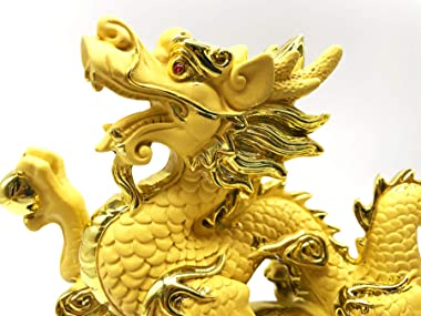 Chinese Feng Shui Dragon Statue Sculpture Figurines Feng Shui Decor Home Office Decoration Tabletop Decor Ornaments Good Luck