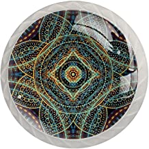 AITAI Boho Mandala's Bloemen Vintage Ronde Kabinet Knop 4 Pack Trekt Handgrepen