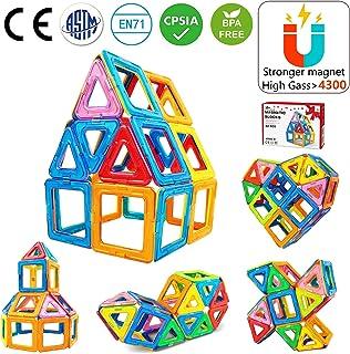 Jasonwell Bloques de Construcción Magnéticos 42 Piezas Bloques Magnéticos 3D Juguetes Construcción Juguetes magnéticos Juego Creativo y Educativo para Los Niños Más de 3 Años
