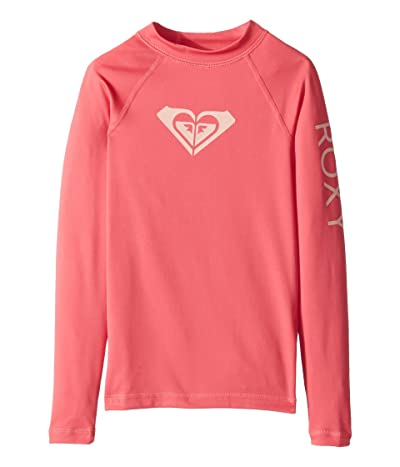 Roxy Kids Whole Hearted Long Sleeve Rashguard (Big Kids) (Rouge Red) Girl