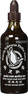FLYING GOOSE würzig schwarze Pfeffer Sauce - scharf, schwarze Kappe, Würzsauce aus Thailand, 2er Pack 2 x 455 ml