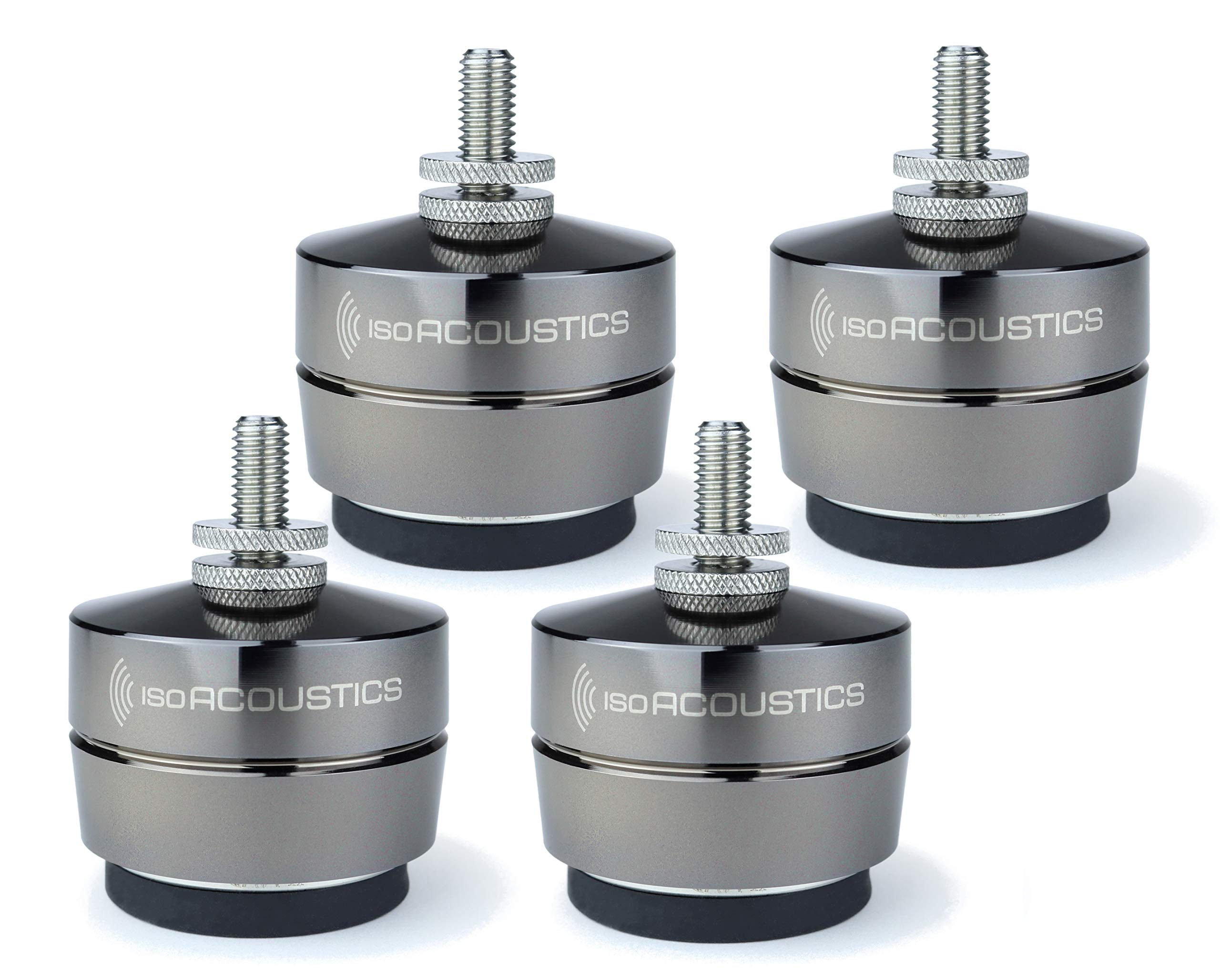 IsoAcoustics Gaia Series Isolation Feet for Speakers & Subwoofers (Gaia II,  8 lb max) – Set of 8