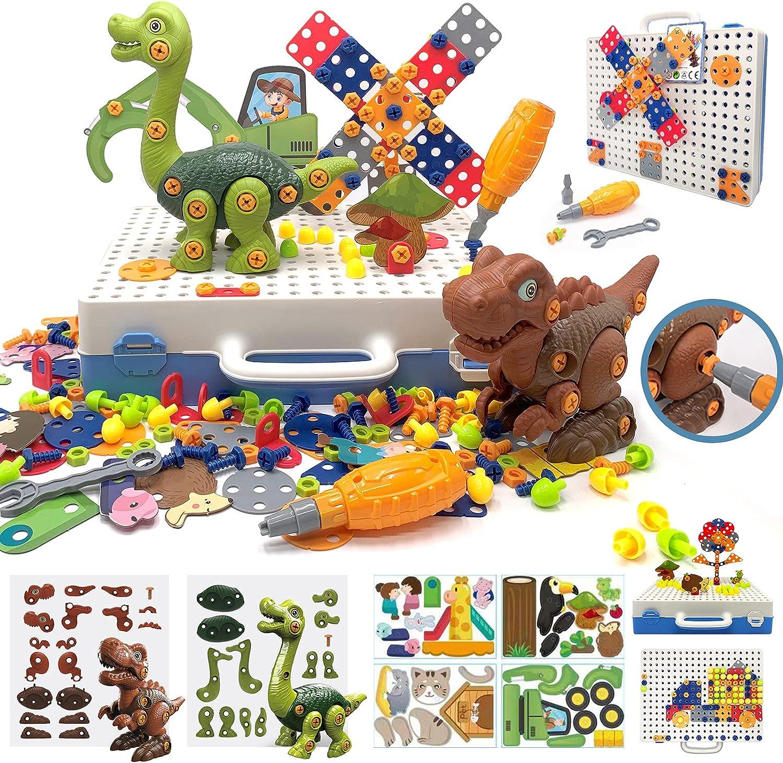 312 Pieces Ultra-Cheap Deals Take Apart Dinosaur Toys Cheap mail order sales Bits DIY Educat Drill Trendy